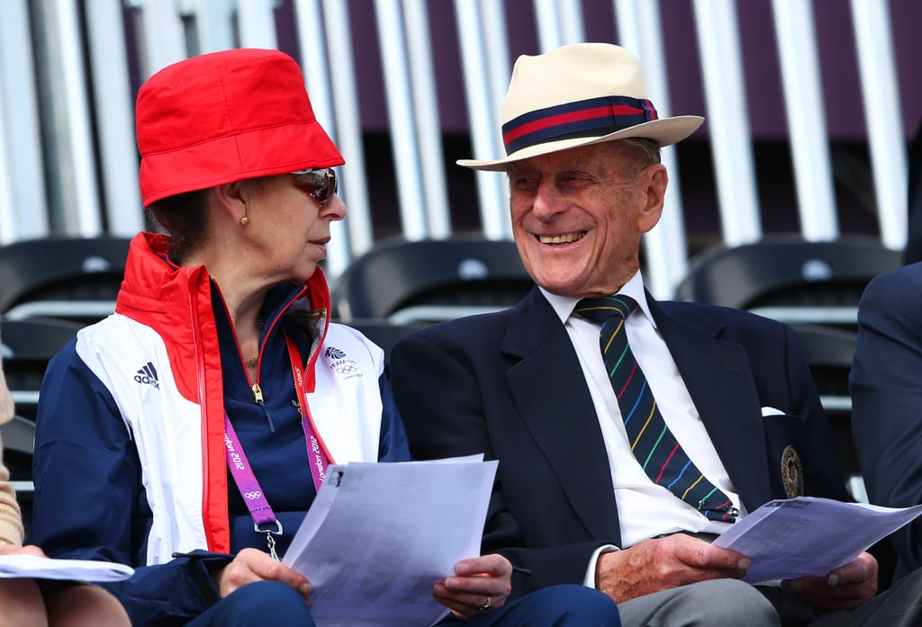 Prince Philip and Princess Anne enjoyed themselves.