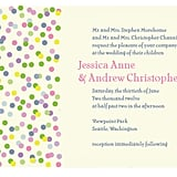 Sprinkles Wedding Invitation