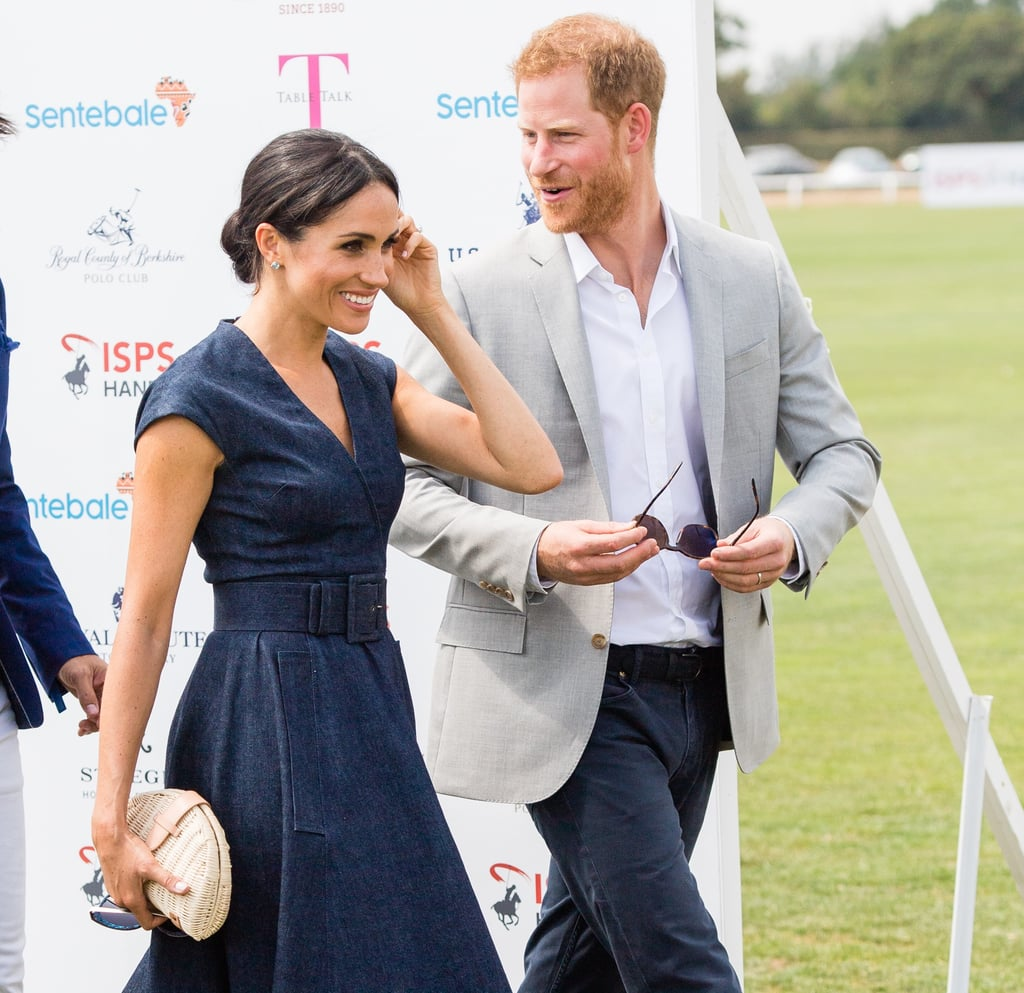 Prince Harry and Meghan Markle at Sentebale Polo 2018
