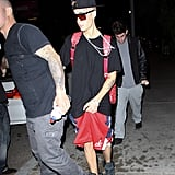 Justin Bieber was out in LA.