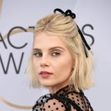 Lucy Boynton s Floating Graphic Eyeliner Look Is One Freddie Mercury Would Approve Of