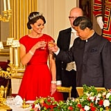 When She Dressed in Red For the Chinese State Dinner