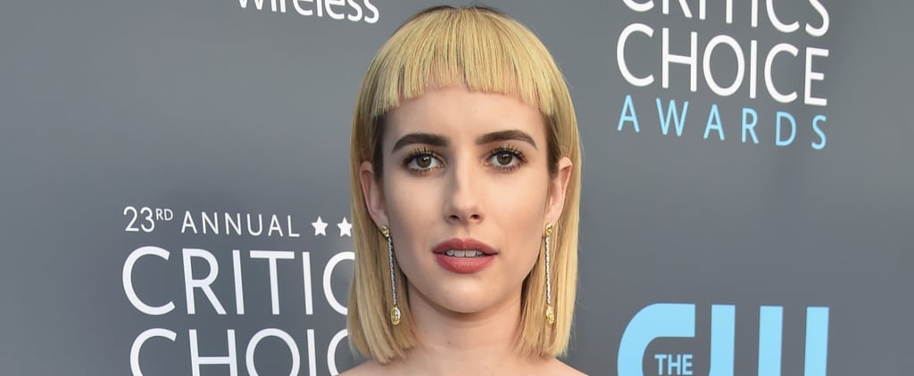 Emma Roberts Is Rocking Ridiculously Chic Bangs at the Critics' Choice Awards