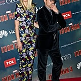 Gwyneth Goes Floral to Show Off Iron Man 3 in Paris With Robert Downey Jr.