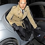 Tom Hardy stepped out of his car for the London afterparty for The Dark Knight Rises.