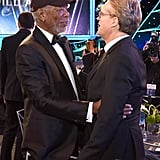 Pictured: Morgan Freeman and Cary Elwes