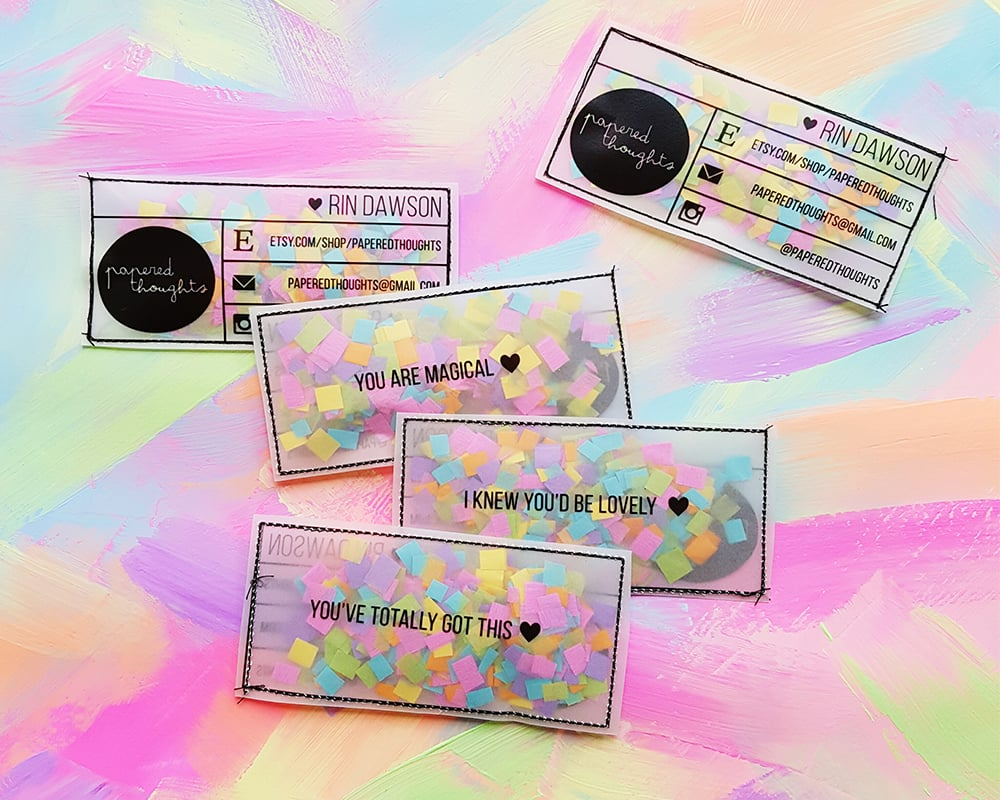 DIY Confetti Business Cards | POPSUGAR Australia Smart Living