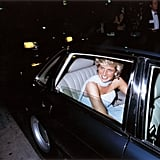 For her evening look, Princess Diana opted for an incredibly glamorous gown.
