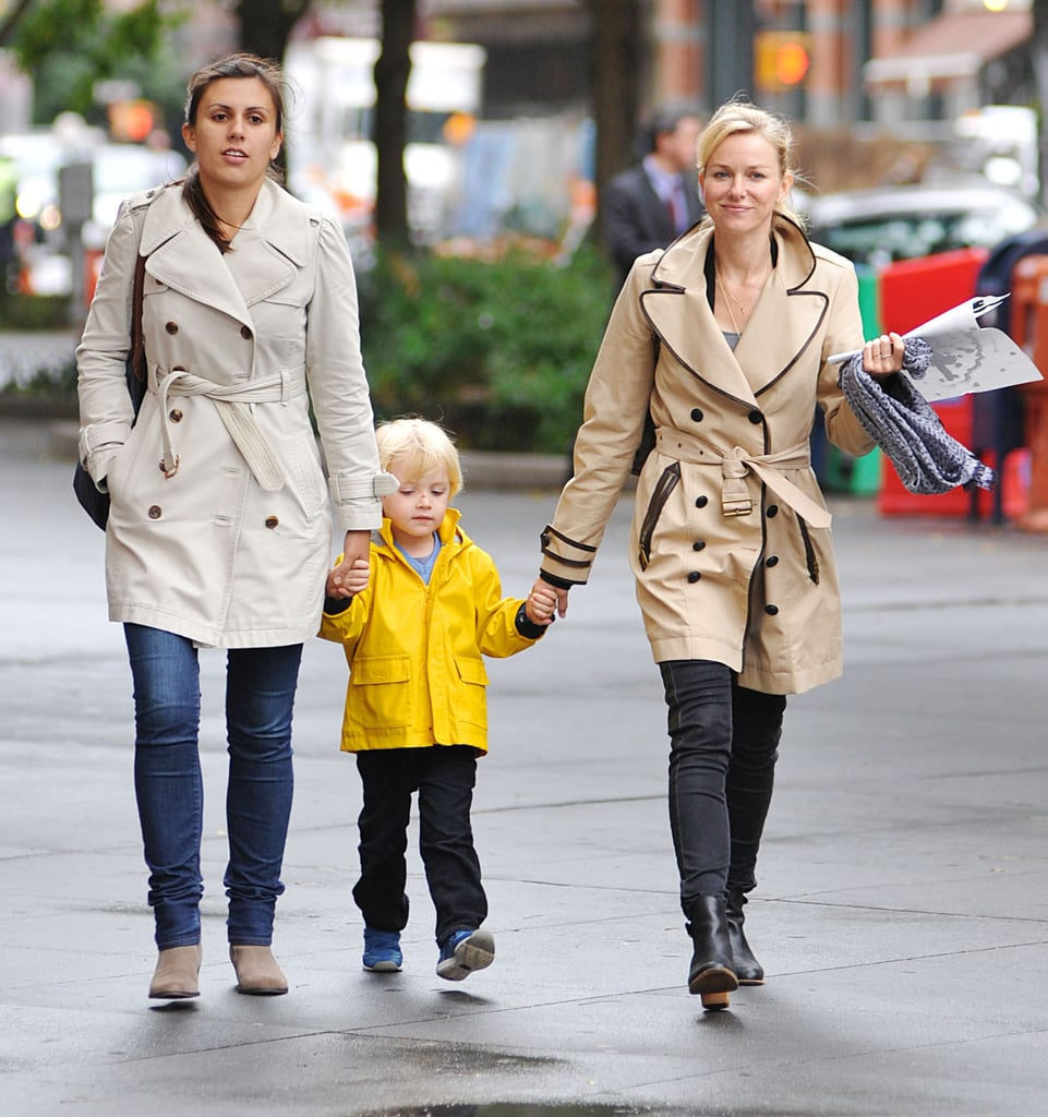 Naomi Watts held her son Kai's hand in NYC.