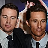 Channing Tatum has his arm around costar Matthew McConaughey at the Magic Mike premiere in London.