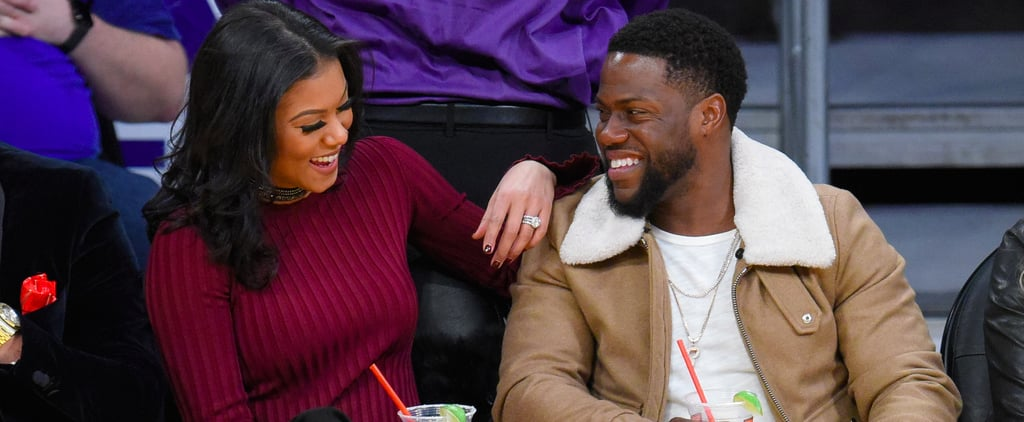 Kevin Hart and Eniko Parrish at LA Lakers Game Dec. 2016