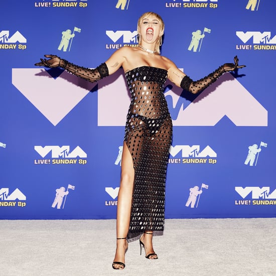 Miley Cyrus Black See-Through Mugler Dress at MTV VMAs 2020