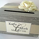 Grey Wedding Card Box