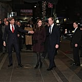 Kate and William Looked Festive as They Made Their Way Into The Carlyle Hotel