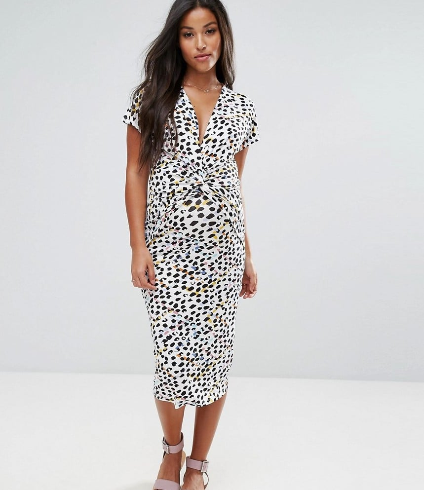 Asos maternity nursing dress with twist knot in animal print asos maternity nursing dress with twist knot in animal print ombrellifo Image collections