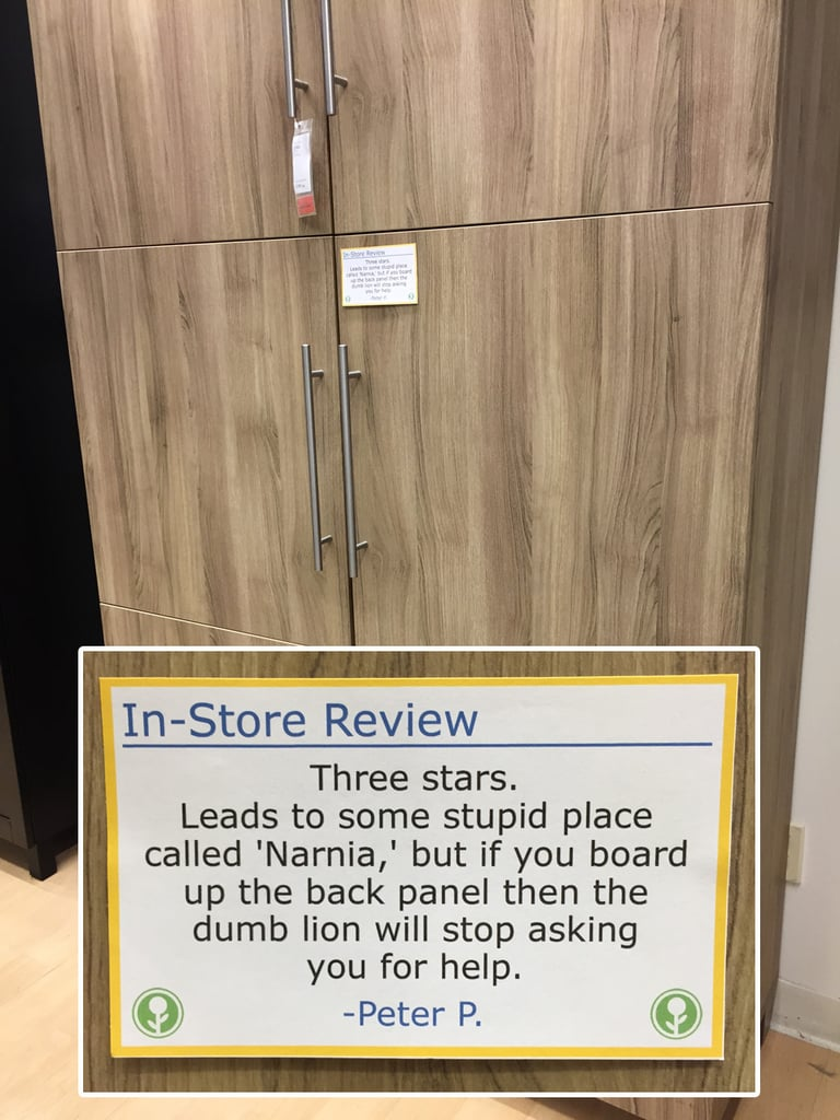 Guy Posts Funny Store Ikea