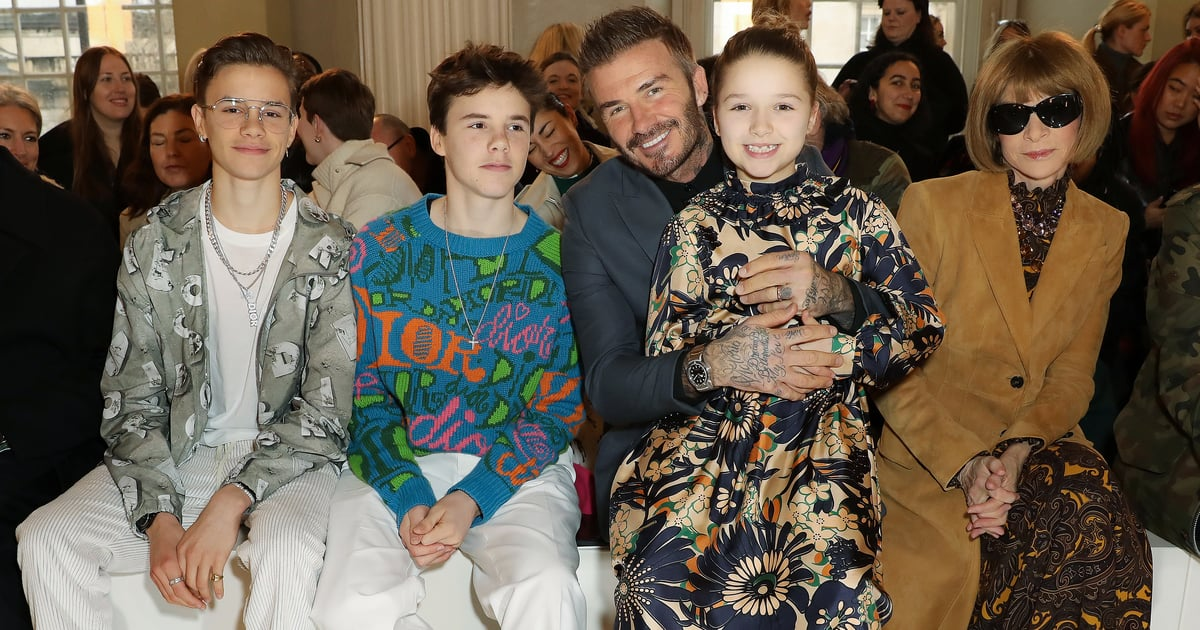 The Beckham Family Came Out to Support Mum Victoria Beckham's Autumn 2020 Collection