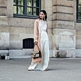 A Long Silk Coat and Matching Dress That Sweeps the Ground