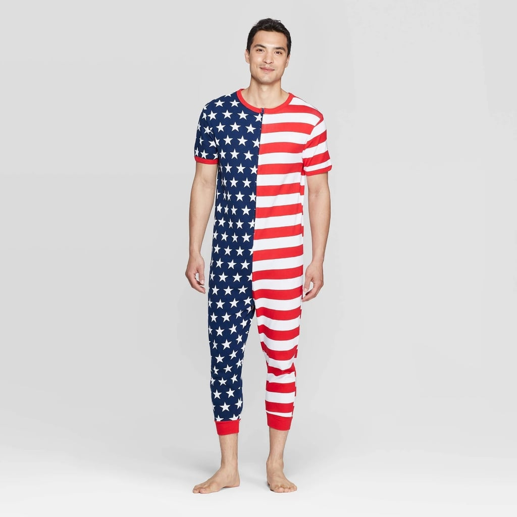 6dbd586f91 Snooze Button Men's Stars and Stripes Family Pajama Union Suit ...