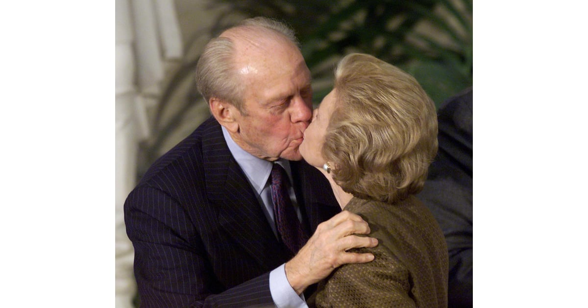 Gerald Ford Kisses His Wife At The Congressional Gold