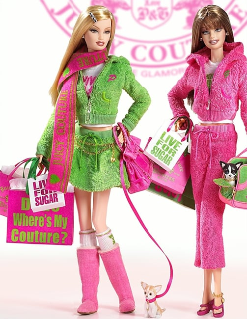 Juicy Couture was so big, it got a line of Barbies.
