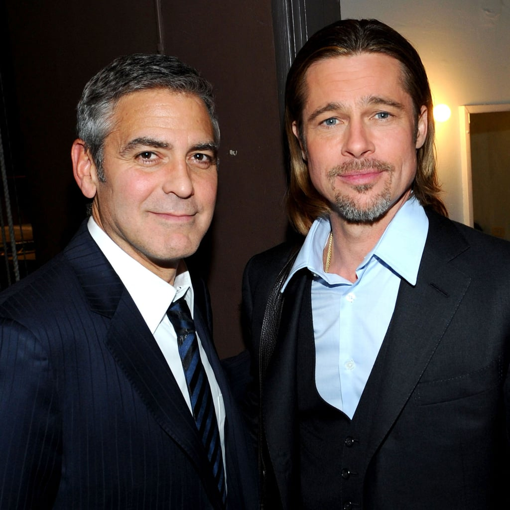 Brad Pitt and George Clooney 8 Stage Reading Pictures