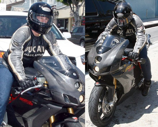 Photos of Tom Cruise Riding His Motorcycle