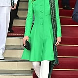 Kate Middleton in Catherine Walker, Maheen Khan, and Satrangi