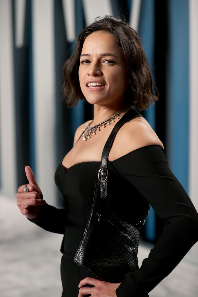 Michelle Rodriguez at the Vanity Fair Oscars Afterparty 2020