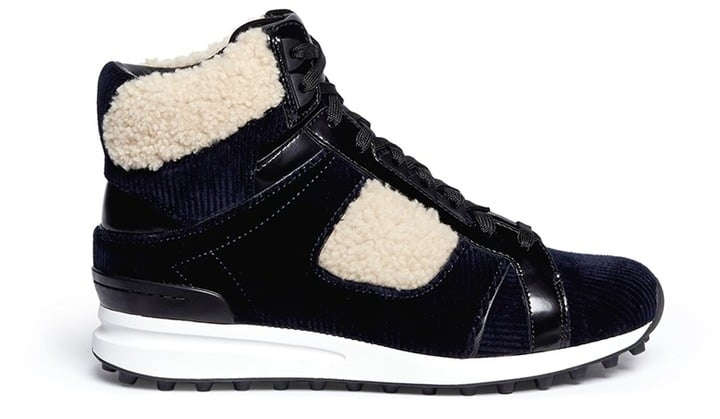 3.1 Phillip Lim 'Trance' Shearling Trim Corduroy Sneakers ($550)