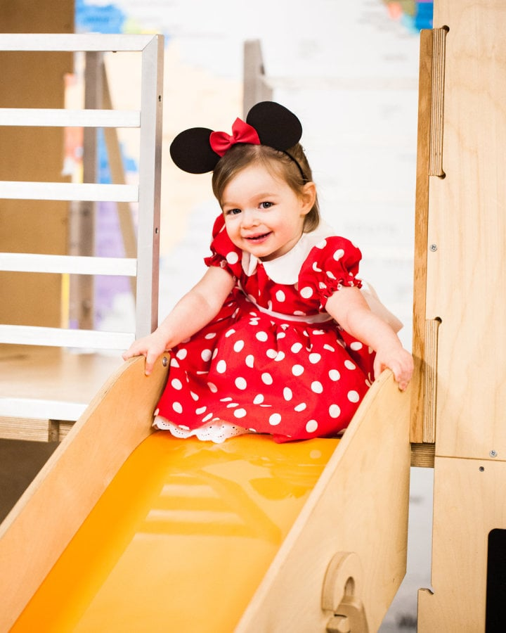 Riley Mesnick was the picture-perfect Minnie Mouse birthday girl.