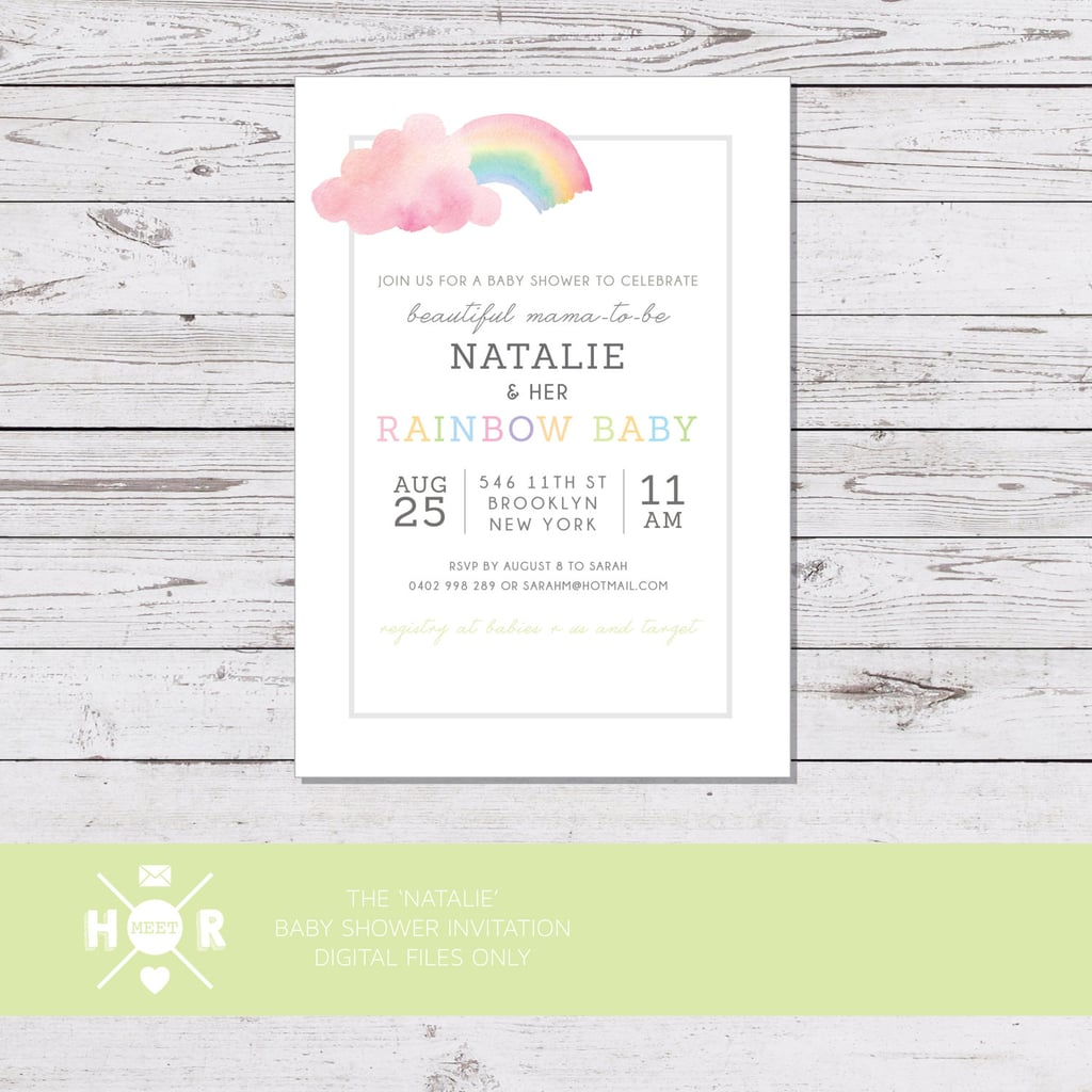 Modern water color rainbow baby shower invitation 16 rainbow modern water color rainbow baby shower invitation 16 filmwisefo