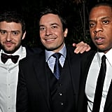 Jimmy Fallon, Justin Timberlake, and Jay-Z had fun for a photo op.