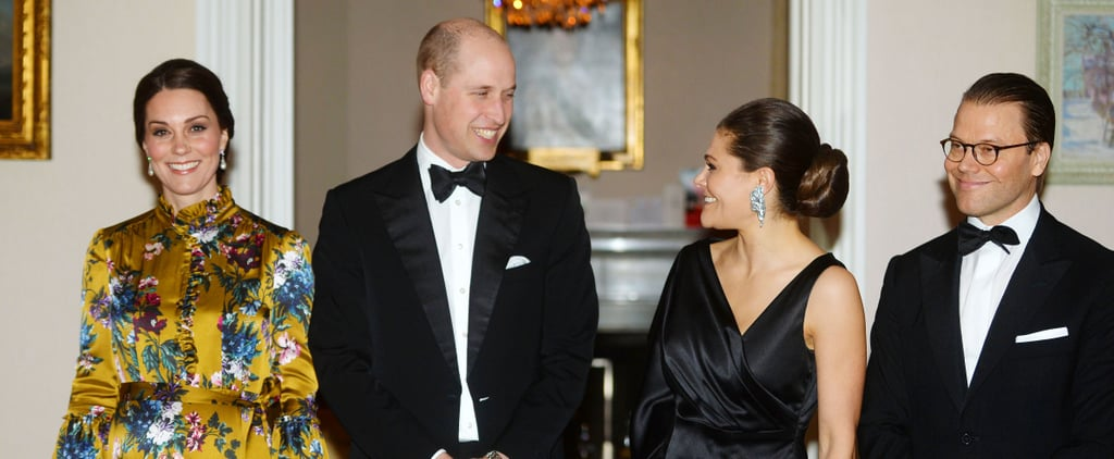 While Everyone Else Wore Black, Kate Middleton Stood Out in a Beautiful Gold Gown