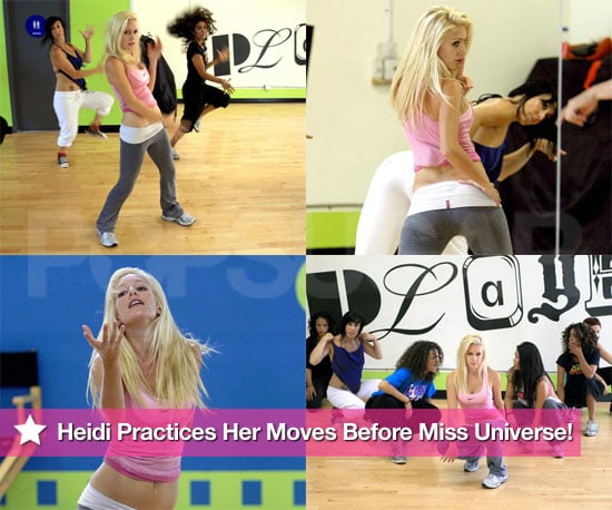 Heidi Practices Her Moves Before Miss Universe!