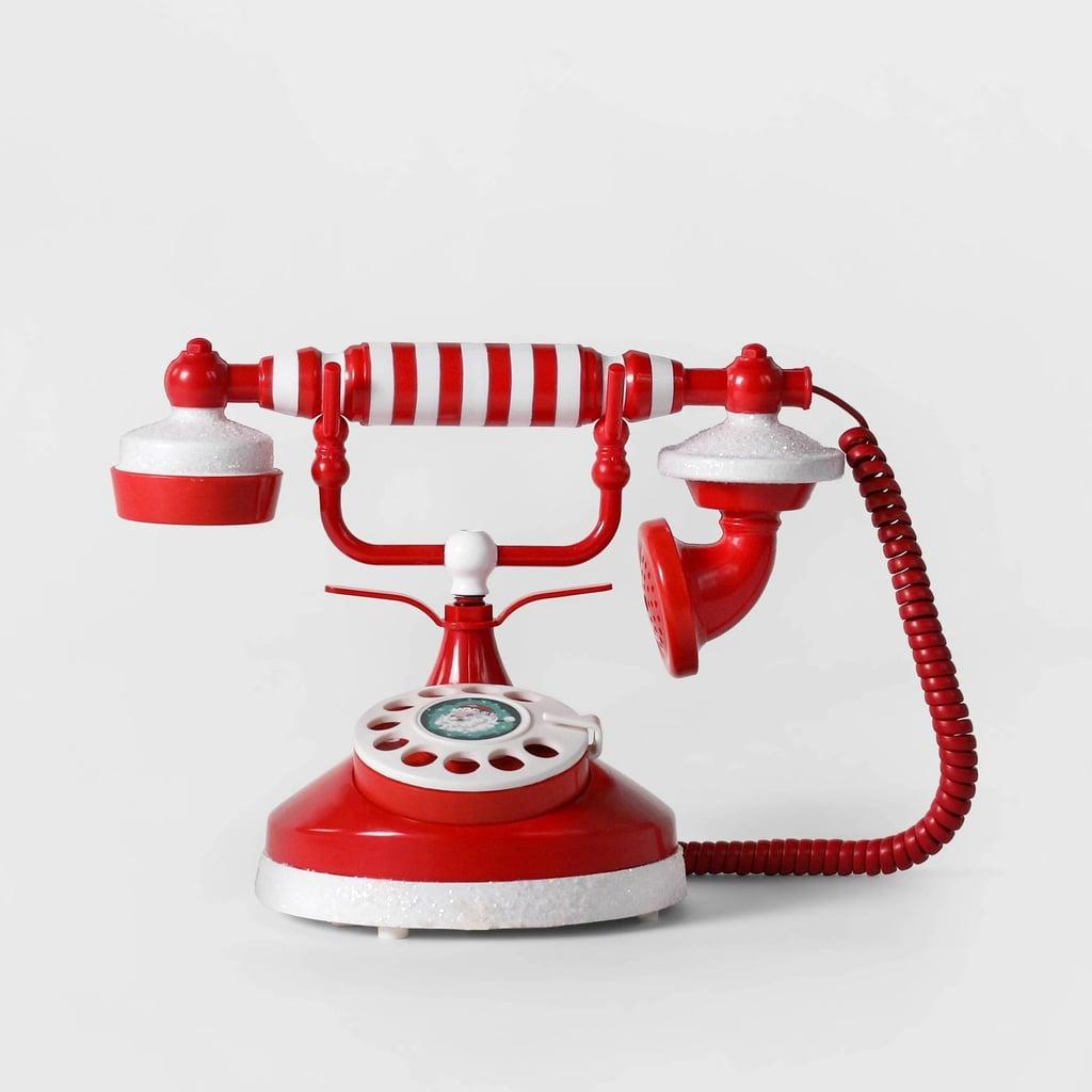 Animated Talking Santa Telephone Christmas Decor