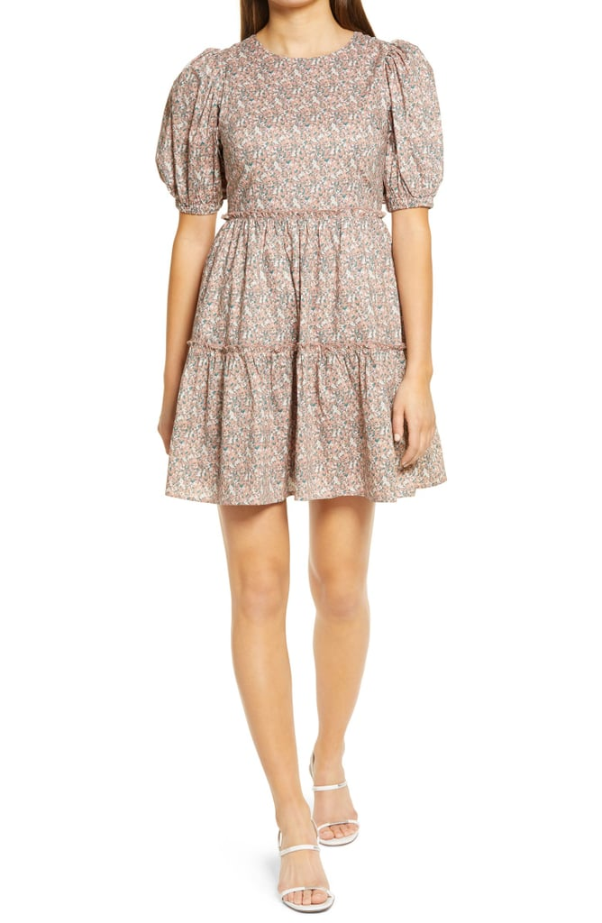 English Factory Floral Puff Sleeve Dress