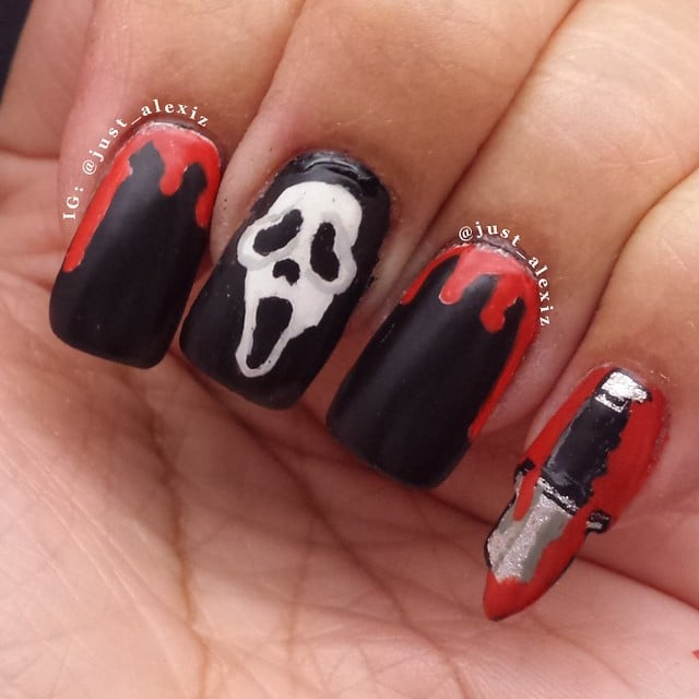 Scream Horror Movie Nail Art Inspiration Popsugar Beauty Photo 5