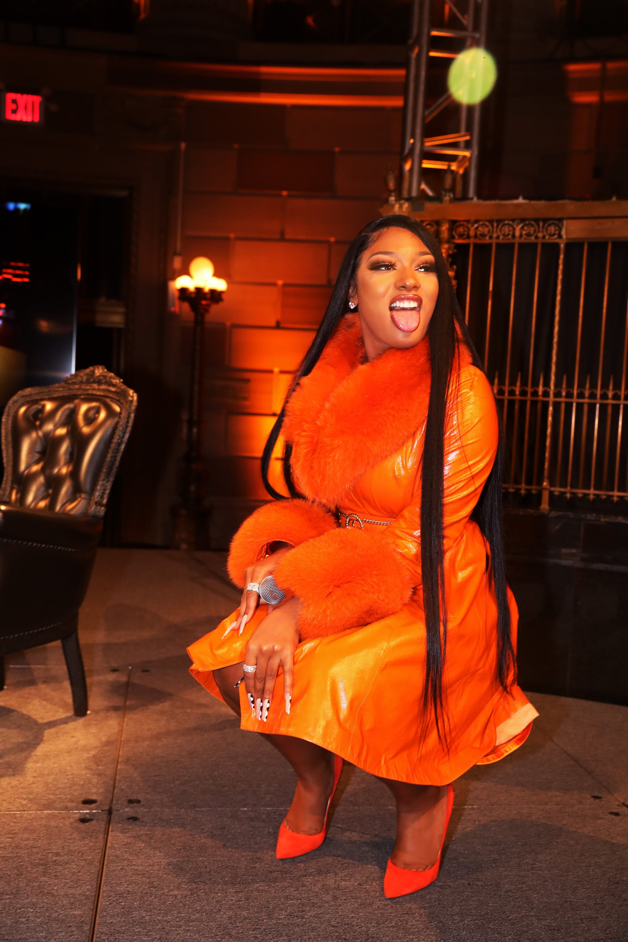 NEW YORK, NEW YORK - MARCH 10: Recording artist Megan Thee Stallion appears onstage at #CRWN  A Conversation With Elliott Wilson And Megan Thee Stallion at Gotham Hall on March 10, 2020 in New York City. (Photo by Johnny Nunez/WireImage)
