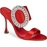 Manolo Blahnik Fibiona Crystal Embellished Mules