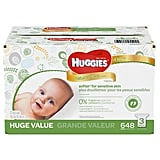 The Product: Huggies Natural Care Plus Wipes
