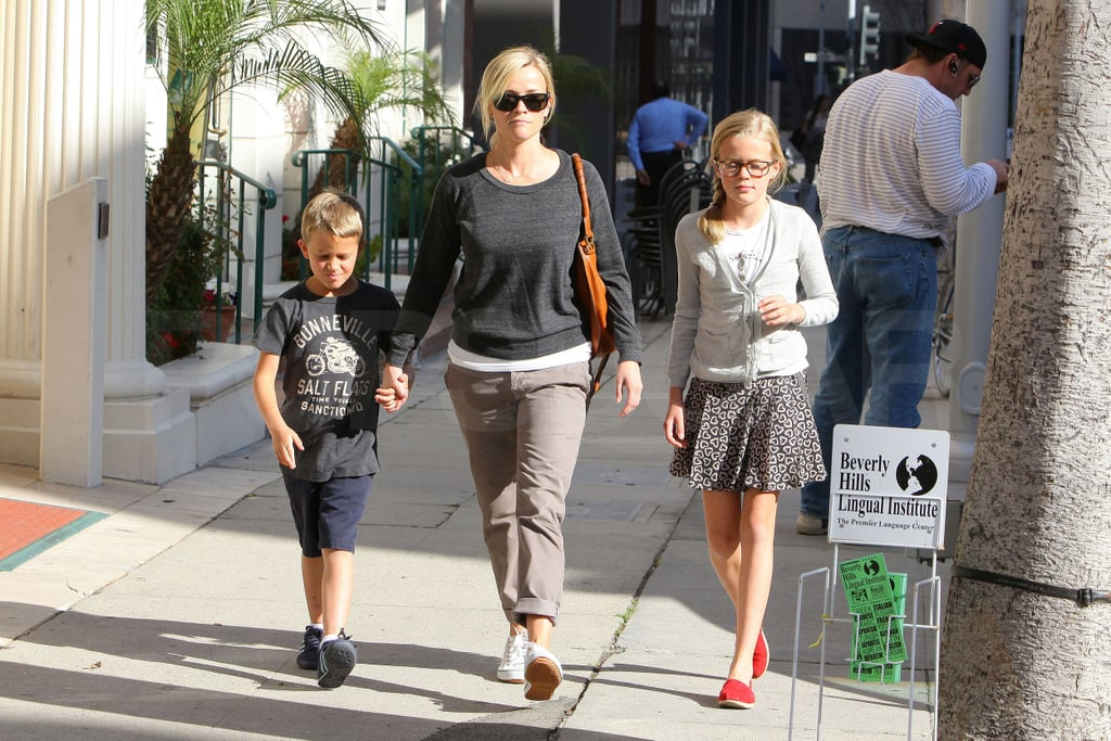 Reese Preps For Sunday's Water For Elephants Premiere With Ava and Deacon