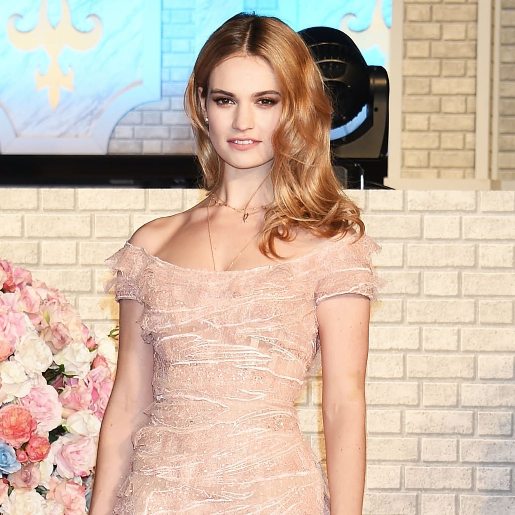 Lily James Elie Saab D...