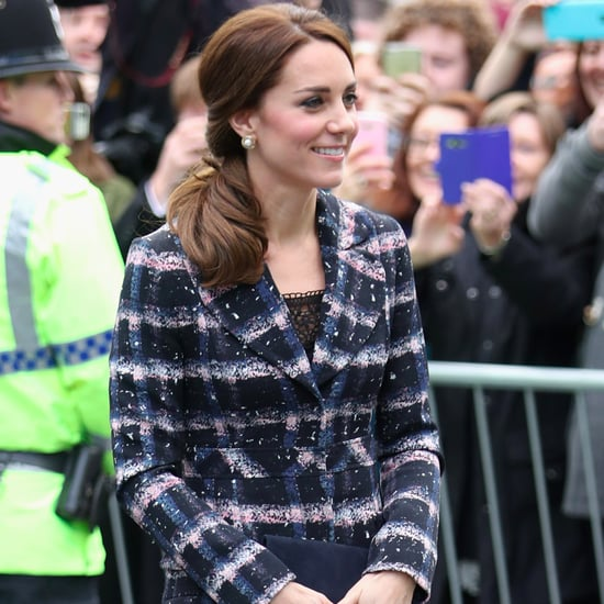 Duchess Kate's Plaid Erdem Coat in Manchester October 2016