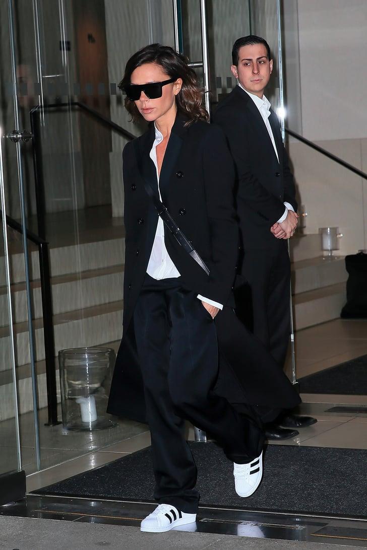Victoria Beckham Wears Adidas Stan
