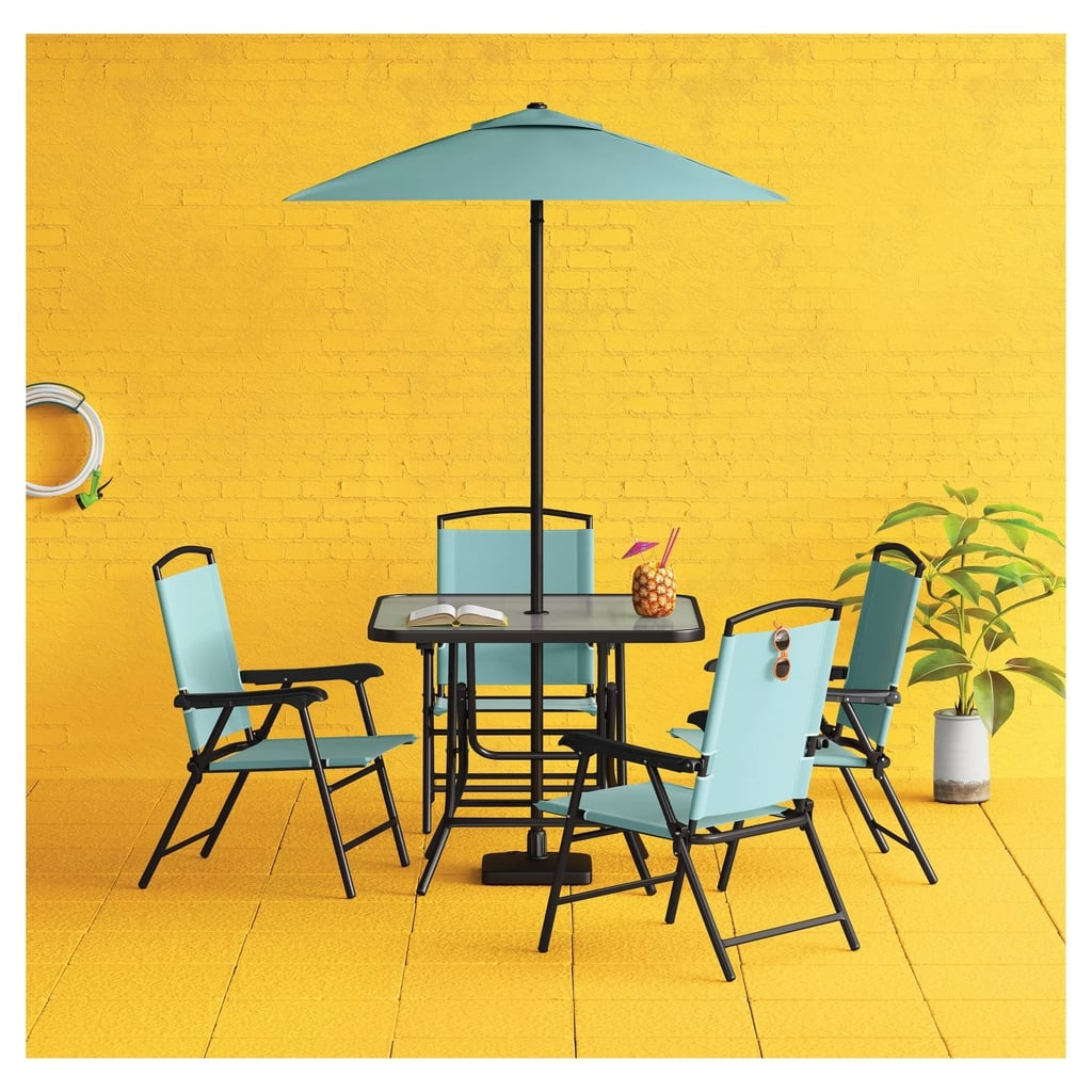 Threshold 7-Piece Metal Folding Patio Dining Set