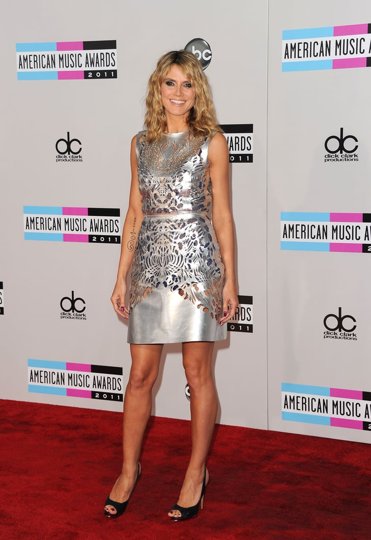 Heidi Klum attended the American Music Awards Sunday.