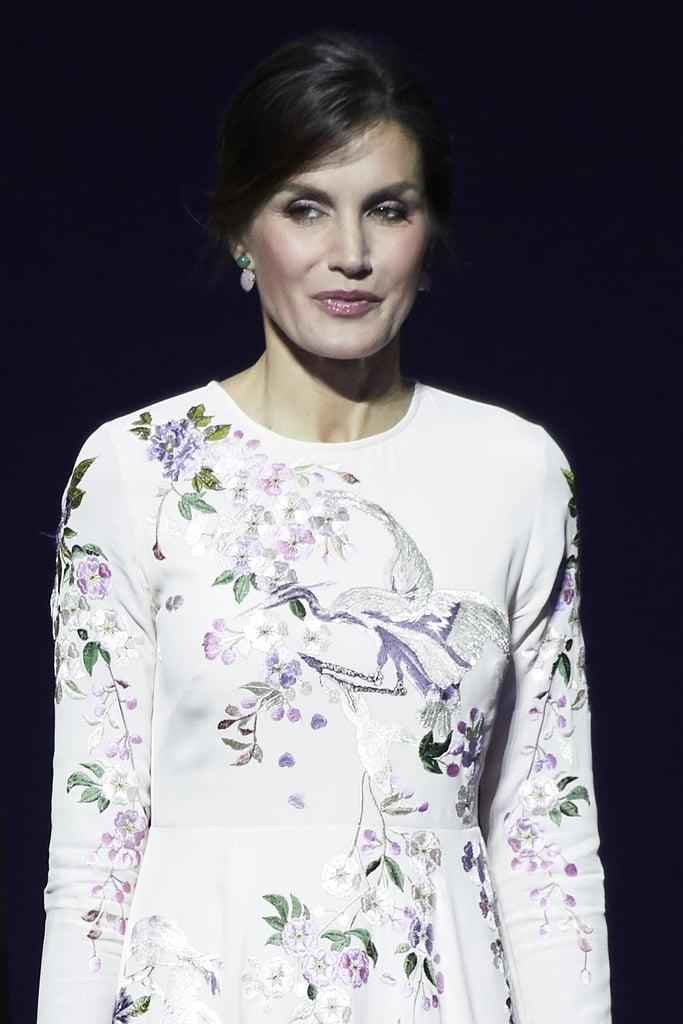 Queen Letizia's Pink Bird-Print Dress From ASOS