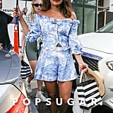 Priyanka Chopra in Blue Co-Ord Set With Sophie Turner