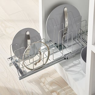 The Container Store Chrome Roll-Out Lid Holder